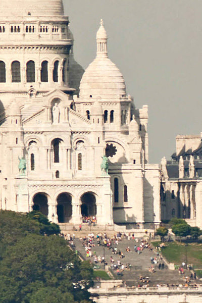 Le Sacré Coeur de Paris sur la photo de Paris 26 gigapixels