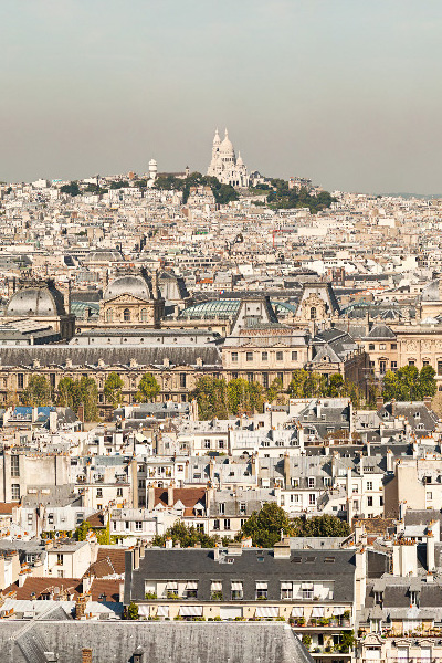 Paris vers le Sacré Coeur sur la photo de Paris 26 gigapixels